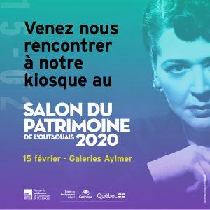 Venez nous rencontrer à notre kiosque, le 15 février 2020 au Galeries Aylmer 181 rue Principale, Gatineau